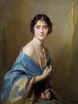 Queen Elizabeth The Queen Mother - Portrait by Philip de László, 1925