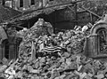 Photograph of the Flag-Draped Body of Major Thomas D. Howie on the Rubble of the St. Lo Cathedral - NARA - 12518083.jpg