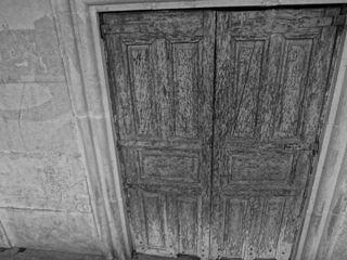 Photography by David Adam Kess, España, Aranda de Duero, Hand Carved Wooden Door, pic bbba1.jpg