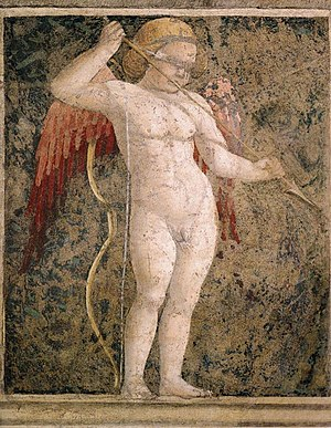 Cupid - A blindfolded, armed Cupid (1452/66) by Piero della Francesca