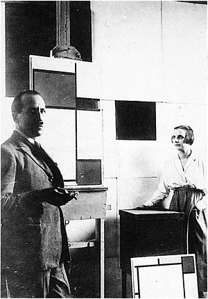 Anonymous. Piet Mondrian and Pétro (Nelly) van...