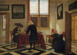 Pieter Janssens Elinga: Interior Scene