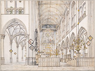 Interior of the Church of St. Lawrence in Alkmaar