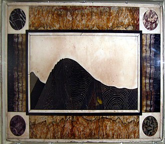 Ecton, Staffordshire - A model of Ecton Hill made out of minerals using a process called Pietra Dura.