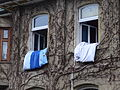 Pillow in a window of a house in Eisenach.JPG