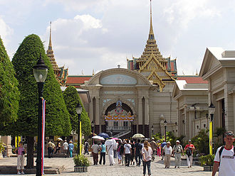 Grand Palace - The Phimanchaisri Gate, the main entrance from the Outer to the Middle Court