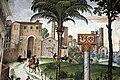 Pinturicchio, liberia piccolomini, 1502-07 circa, Enea Silvio, vescovo di Siena, presenta Eleonora di Portogallo all'imperatore Federico III 02 camollia.JPG