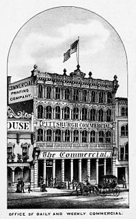 <i>Pittsburgh Commercial</i> 19th-century US newspaper