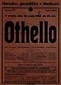 Plakat za predstavo Othello v Narodnem gledališču v Maribor 30. maja 1928.jpg