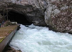 Planina Cave - Image: Planina Cave Slovenia Unica River
