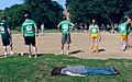 Planking in Chicago during a game of kickball August 21, 2010.jpg