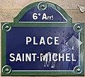 Plaque Place Saint Michel - Paris VI (FR75) - 2021-07-29 - 1.jpg