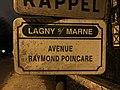Plaque avenue Poincaré Lagny Marne 2.jpg