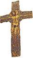 Plaque médiane de croix cuivre champlevé gravé émaillé doré 1210 1220.JPG