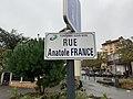 Plaque rue Anatole France Fontenay Bois 1.jpg