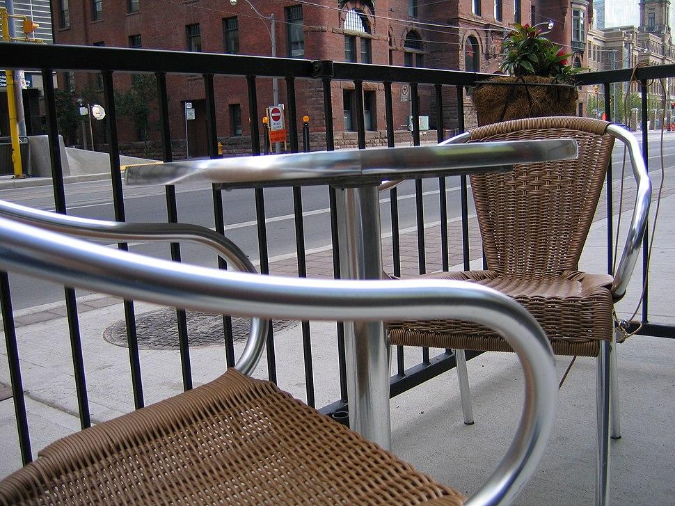 Plastic wicker chairs 01