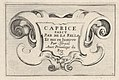 Plate 1- A cartouche with series title, from 'Caprice faict par de la Bella' MET DP831110.jpg