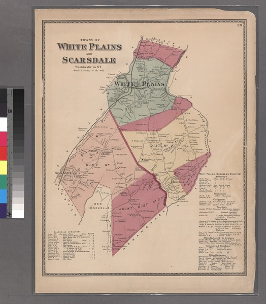File:Plate 39- Towns of White Plains and Scarsdale, Westchester, N.Y. NYPL1516826.tiff