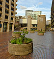Plaza at Barbican Estate, London, in late afternoon light.jpg