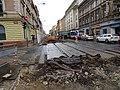 Plzeňská, rekonstrukce TT, přejezd Erbenovy.jpg