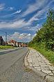 Pohled do vesnice od základní školy, Benešov, okres Blansko.jpg
