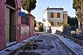 Polygnotou Street in Plaka. In the distance the Byzantine Church of the Holy Apostles.jpg