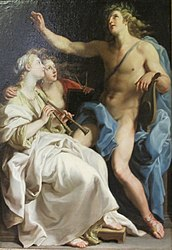 Pompeo Batoni: Apollon, Euterpe and Urania