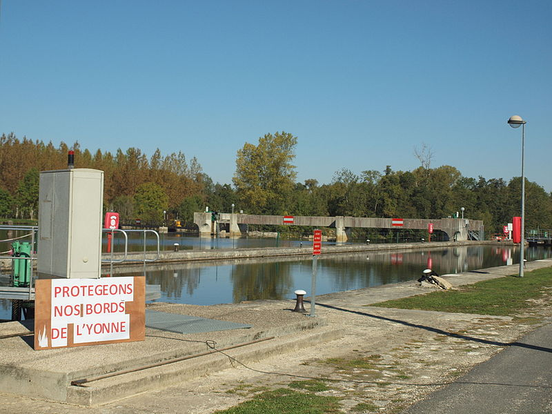 Barrage de Champfleury à Sixte