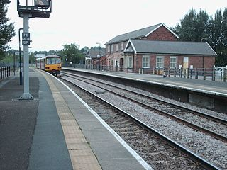 Pontefract Baghill railway station Railway station in West Yorkshire, England
