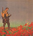 Poppies with soldier and grave detail, If Ye Break Faith - Victory bonds poster (cropped).jpg