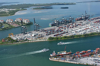 PortMiami - Aerial view of the Port of Miami