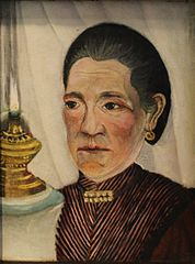 Portrait of the second wife of the artist