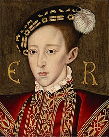 Edward VI, oleh William Scrots, sekitar 1550