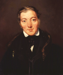 Robert Owen - portrait by William Henry Brooke in the National Gallery, London, England