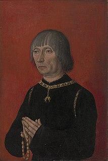 Louis de Bruges; ca. 1427-1492; married Marguerite de Borselen in 1455; noted diplomat and bibliophile