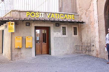 The Vatican's post office was established on 11 February 1929 Poste Vaticane.jpg
