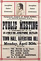 Poster - Josephine Butler Centenary. A public meeting in commemoration, 1928. (22298972063).jpg