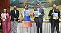 Prakash Javadekar releasing the bulletin on 'Ecology and Management of Grassland Habitats in India', at the National Interaction-cum-evaluation workshop for Environmental Information System (ENVIS) centres, in New Delhi.jpg