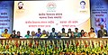 Prakash Javadekar with the recipients of the KVS National Incentive Awards 2016 and the Innovation and Experimentation Awards 2016, at the Kendriya Vidyalaya Sangathan (KVS) foundation day function, in New Delhi (5).jpg