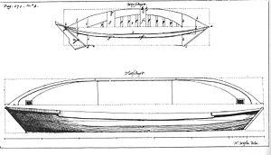 Pram (ship) - Drawing of a 17th-century pram by Nicolaes Witsen.