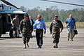 President Bush Arrives in New Orleans after Hurricane Katrina by William Townsend USN, 2005 (DOD 051011-N-9274T-116) (691141708).jpg