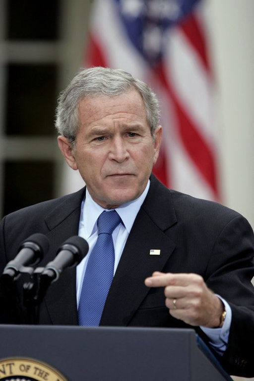 President George W. Bush holds a press conference in the Rose Garden Wednesday, Oct. 11, 2006