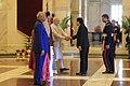 President Rodrigo Roa Duterte is greeted by India Prime Minister Narendra Modi upon his arrival at the Rashtrapati Bhavan.jpg