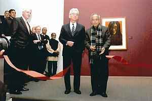 The Last Harvest: Paintings of Rabindranath Tagore - President of India, Pranab Mukherjee inaugurates the show at the Art Institute of Chicago