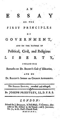 Essay on the First Principles of Government cover