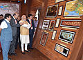Prime Minister Narendra Modi at an exhibition at the Maritime India Summit (26599551342).jpg