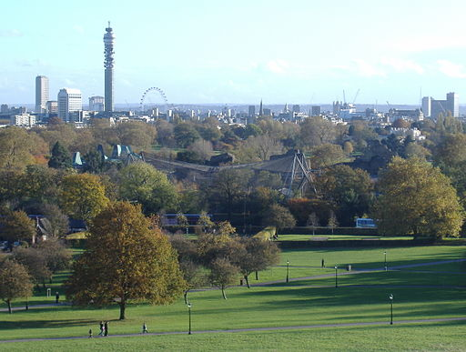 Primrose Hill -London Zoo -BT Tower -18n2006