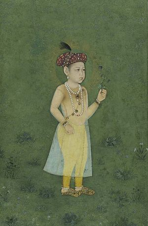 Shah Shuja (Mughal prince) - Shah Shuja in his childhood, 1650