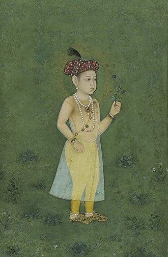 Shah Shuja (Mughal prince) - Shah Shuja in his childhood, 1650