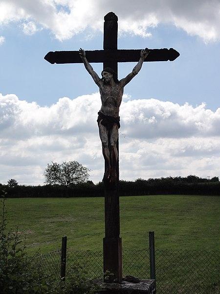 Prisches (Nord, Fr) croix de chemin